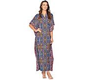 Joan Rivers Petite Length Spice Market Jersey Knit Caftan - A289061