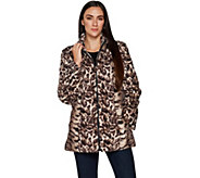 Dennis Basso Mixed Animal Print Faux Fur Jacket - A297461