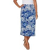 Linea by Louis DellOlio Faux Wrap Printed Midi Skirt - A302561