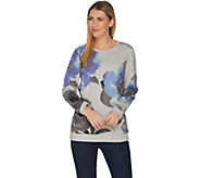 Studio by Denim & Co. Floral Printed French Terry Crew Neck Top - A303161
