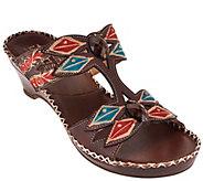 Spring Step LArtiste Leather Wedge Sandals - Sorriso - A336061