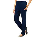 Denim & Co. Regular Pull-On Side Pocket Pants - A226462