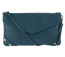 Tignanello Pebble Leather Crossbody with Studded Accents