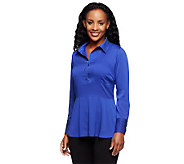 Status by Star Jones Woven Top with Peplum Detail - A237762