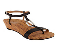 Vionic w/ Orthaheel Martinique Orthotic T-Strap Sandals - A239862