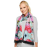 Joan Rivers Garden of Roses Chiffon Scarf - A240762