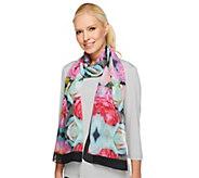 Joan Rivers Garden of Roses Chiffon Scarf - A240762