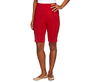 Susan Graver Lustra Knit Pull-On Bermuda Shorts - A254562