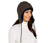 MUK LUKS Classic Cable Knit Trapper Hat - A257862