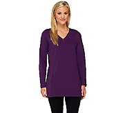 Denim & Co. Active French Terry Tunic w/ Stitch Detail - A260262
