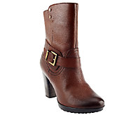 As Is Clarks Artisan Lida Sayer Leather High Heel Mid Shaft Boot - A264562
