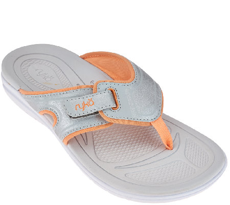 Ryka Sport Thong Sandals With Css Technology Shimmy