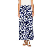 Denim & Co. Printed Jersey Skirt with Flounce - A266462