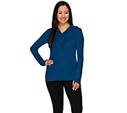 Cuddl Duds Fleecewear Stretch Long Sleeve Half Zip Hoodie - A268462