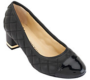 As Is Isaac Mizrahi Live! Quilted Leather Pumps - A269062