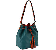 As Is Dooney & Bourke Kendall Pebbled Leather Large Drawstring Bag - A275162