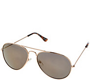 C. Wonder Aviator Frame Sunglasses with Mirror Lens - A278762