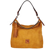 As Is Dooney & Bourke Newbury Suede Sloan Hobo - A280162
