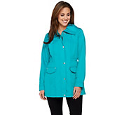 As Is Dennis Basso Water Resistant Anorak Jacket - A285062