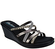 Skechers Multi-Strap Open Toe Wedge Sandals - Wild Child - A287762