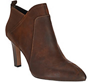 As Is Franco Sarto Leather Pointed Toe Booties - Karina - A290362