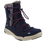 As Is Ryka Faux Fur Water Repellent Boots - Aubonne - A293062