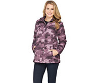 As Is Isaac Mizrahi Live! SOHO Nylon Quilted Camo Anorak Jacket - A294362
