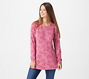 Denim & Co. Heavenly Jersey Fit and Flare Long Sleeve Printed Tunic - A297762