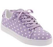 Isaac Mizrahi Live! Lace-Up Polka Dot Sneakers - A304362