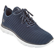 Skechers Ribbed Knit Lace-Up Sneakers - Estates - A304762