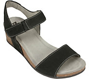 White Mountain Leather Wedge Sandals - Haines - A358362