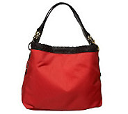 JPK Paris75 Signature Fabric Small Sasha Hobo with Leather Trim - A224263