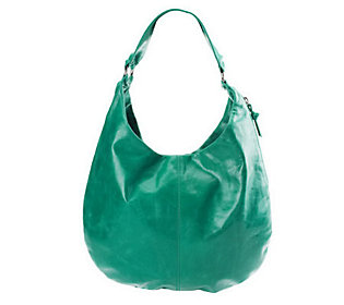 Hobo Leather Gabor Hobo Bag w/Side Zip Pocket Detail
