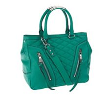 Aimee Kestenberg Quilted Leather Shopper With Zi...