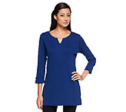 Liz Claiborne New York Regular Essentials 3/4 Sleeve Tunic - A236963