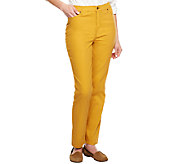 Liz Claiborne New York Petite Hepburn Slim Leg Colored Jeans - A240263