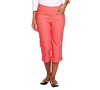 "Denim & Co. ""How Smooth"" Petite Capri Pants with Pockets - A252863"