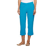 Susan Graver Terry Cloth Pull-on Capri Pants - A253263