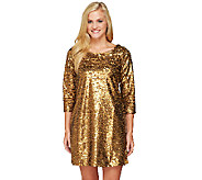 Edge by Jen Rade Long Sleeve Sequin Tunic Dress - A258263