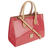 As Is Dooney & Bourke Janine Patent Leather Satchel - A261763