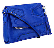 As Is Aimee Kestenberg Pebble Leather Flap Crossbody - A263163