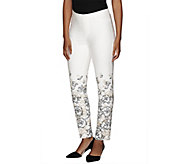 Isaac Mizrahi Live! 24/7 Stretch Floral Print Ankle Pants - A266063