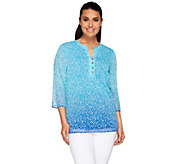 Liz Claiborne New York Painterly Chevron Tunic - A266163