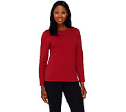 Denim & Co. Essentials Jersey Crew Neck Long Sleeve Top - A270163
