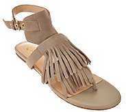 C. Wonder Suede Sandals with Fringe - Jessa - A275663