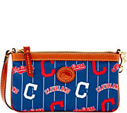 Dooney & Bourke MLB Nylon Indians Large Slim Wristlet - A281663
