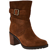 Clarks Artisan Suede Side Zip Boots - Malvet Doris - A282063
