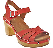 As Is Clarks Artisan Leather Clog Sandals - Ledella Trail - A283863