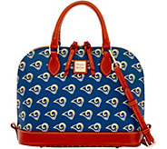 Dooney & Bourke NFL Rams Zip Zip Satchel - A285763