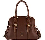 As Is Dooney & Bourke Florentine Leather Domed Buckle Satchel - A288963
